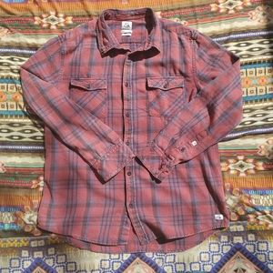 Quicksilver worn-in flannel